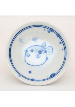 Porcelain saucer fugu