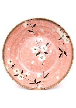 Talerz głęboki sakura różowy