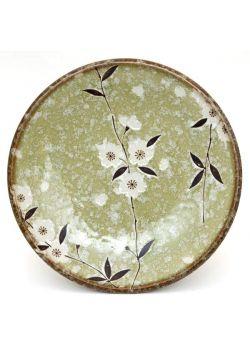 Talerz śniadaniowy sakura zielony
