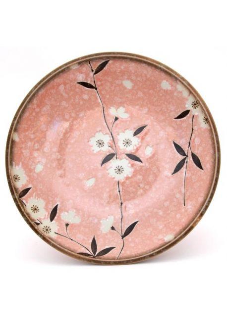 Talerz śniadaniowy sakura różowy