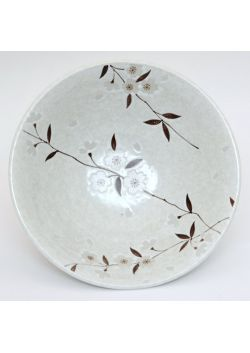 Sakura soup bowl white