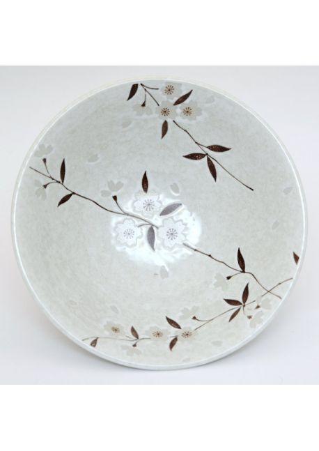 Sakura soup bowl white