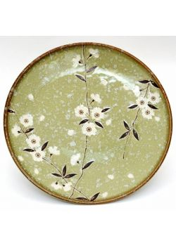 Sakura green plate big