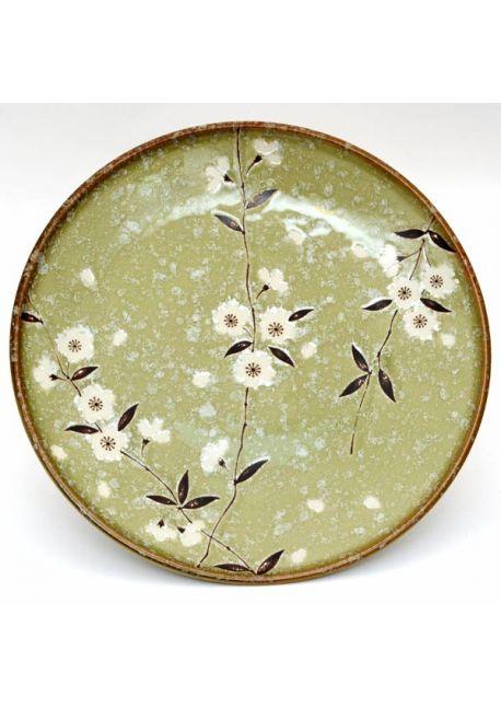 Talerz duży sakura zielony