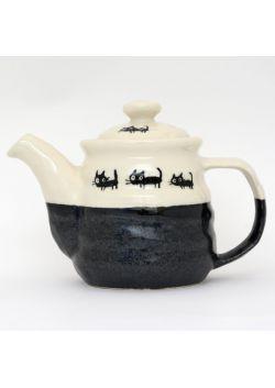 Czajniczek do herbaty neko czarny