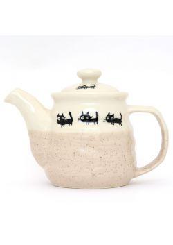 Czajniczek do herbaty neko beżowy