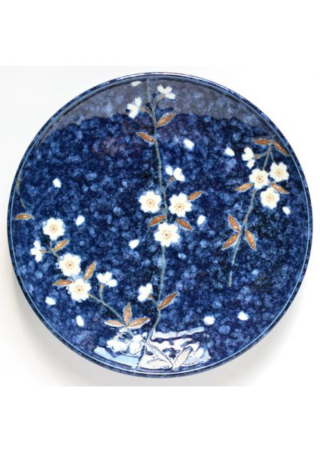 Sakura navy plate big