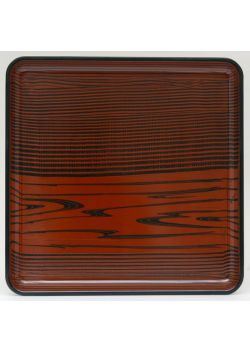 Brown square tray mokusei
