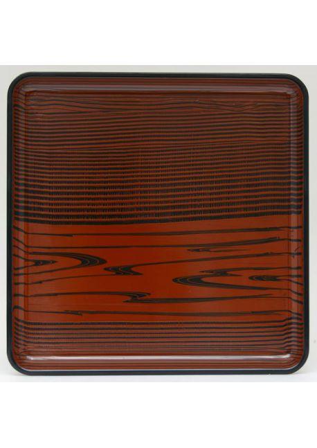 Brown square tray mokusei