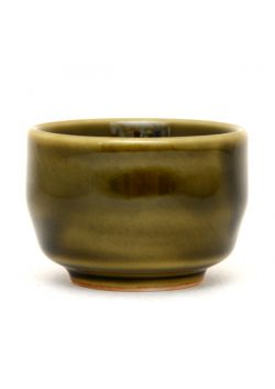 Green sake cup