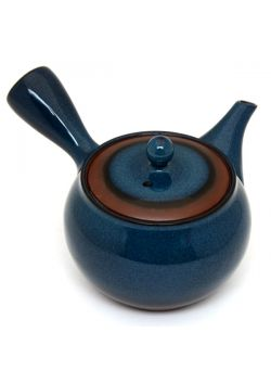 Teapot navy blue