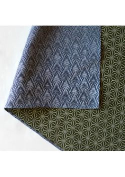 Furoshiki dwustronna granatowo - zielona L