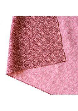 Furoshiki dwustronna bordowo - różowa L