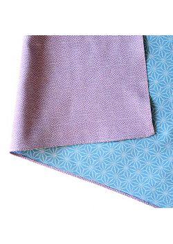 Furoshiki dwustronna fioletowo - niebieska L