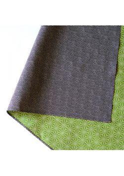 Furoshiki dwustronna zielono - czarna L
