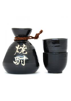 Sake set black