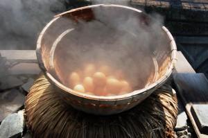 jajka gotowane na onsenie