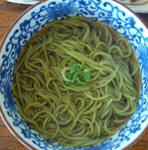 Makaron soba z zielona herbata