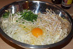 Okonomiyaki - przygotowanie