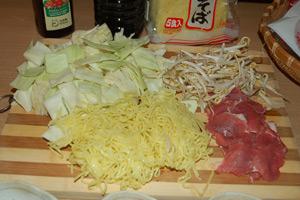 Yakisoba - składniki